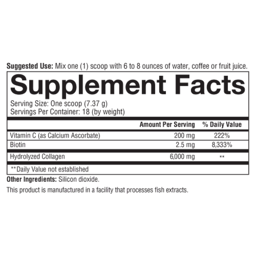 Youtheory® Skin, Hair & Nail Unflavored Formula Collagen Powder Perspective: bottom
