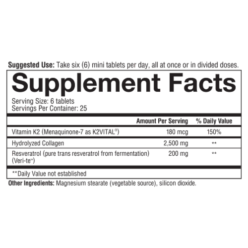 Youtheory Heart Collagen Mini Tablets Perspective: bottom