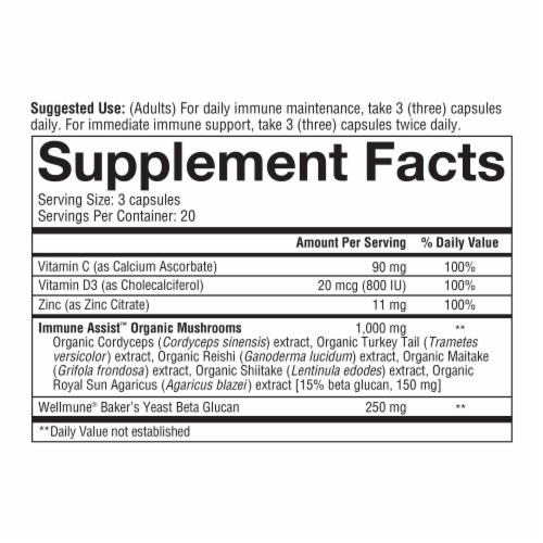 Youtheory® Immune + Daily Wellness Vegetarian Capsules Perspective: bottom