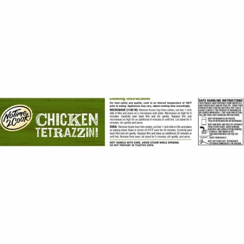No Time 2 Cook Chicken Tetrazzini Frozen Meal Perspective: bottom