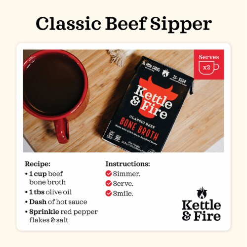 Kettle & Fire Classic Beef Bone Broth Perspective: bottom