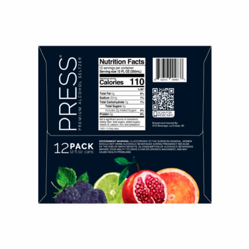 PRESS Hard Seltzers Variety Pack Perspective: bottom