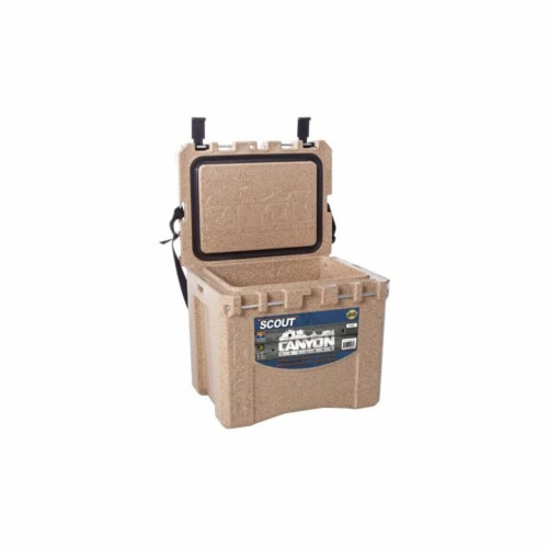 Canyon Coolers Scout 22 Quart 20 Liter Insulated Cooler w/ Tie Downs, Sandstone Perspective: bottom