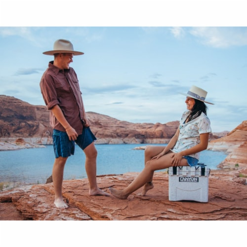 Canyon Coolers Scout 22 Quart 20 Liter Insulated Cooler w/ Ties, White Marble Perspective: bottom