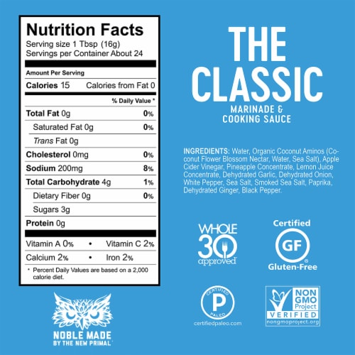 The New Primal Classic Marinade & Cooking Sauce Perspective: bottom
