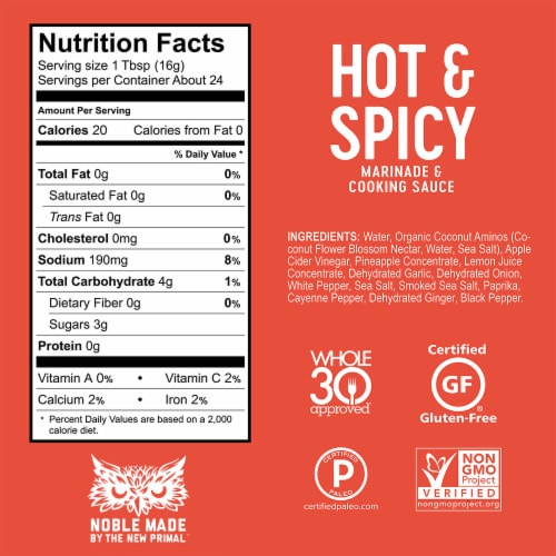 The New Primal Spicy Marinade & Cooking Sauce Perspective: bottom