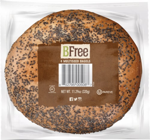 BFree Wheat & Gluten Free Multiseed Bagels Perspective: bottom