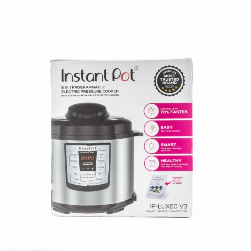 Instant Pot® Lux Stainless Steel 6-in-1 Programmable Pressure Cooker - Silver/Black Perspective: bottom