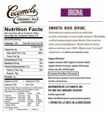 Cocomels Original Coconut Milk Caramels Perspective: bottom