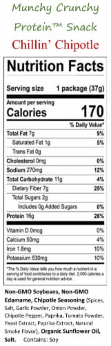 Chillin' Chipotle 10-Packet Munchy Crunchy Protein Snack Perspective: bottom