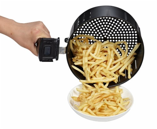 GoWISE USA 3.7-Quart Programmable Air Fryer, White Perspective: bottom
