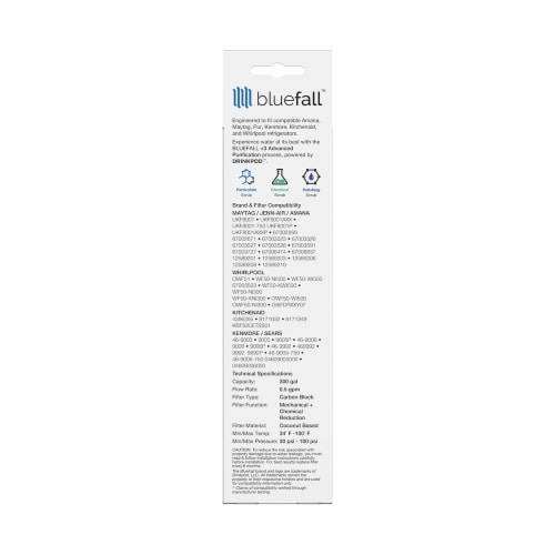 Maytag UKF8001 5PK Refrigerator Water Filter Compatible by BlueFall Perspective: bottom