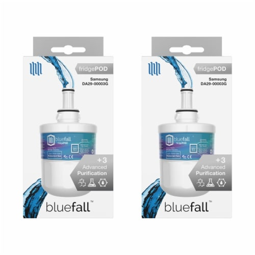 Samsung DA29-00003G 2PK Refrigerator Water Filter Compatible by BlueFall Perspective: bottom