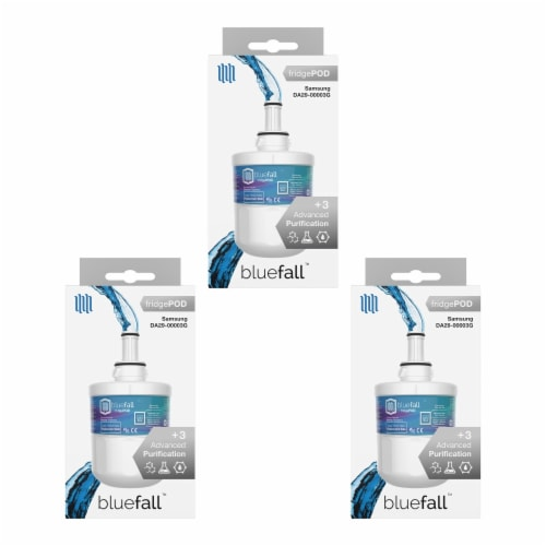 Samsung DA29-00003G 3PK Refrigerator Water Filter Compatible by BlueFall Perspective: bottom