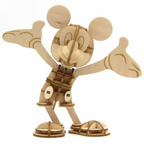 IncrediBuilds Walt Disney: Mickey Mouse 3D Wood Model and Book Perspective: bottom