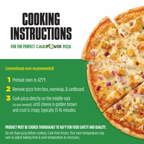 Caulipower Buffa-Whoa Cauliflower Crust Buffalo-Style Chicken Pizza Perspective: bottom