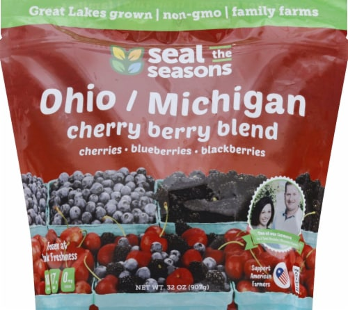 Seal the Seasons Michigan/Ohio Cherry Berry Blend Frozen Fruit Perspective: bottom