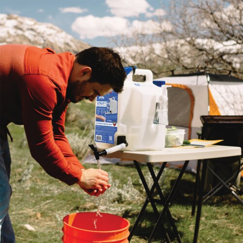 SureCan SUR5SU1 Camping Portable Water Station 5 Gallon Utility Tank with Spigot Perspective: bottom