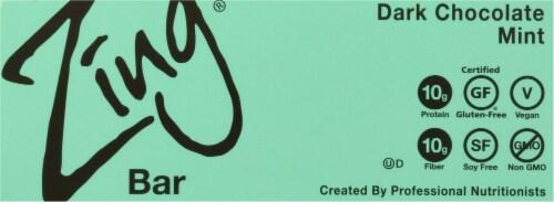 Zing® Dark Chocolate Mint Nutrition Bars Perspective: bottom