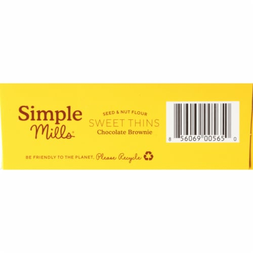 Simple Mills® Chocolate Brownie Sweet Thins Perspective: bottom