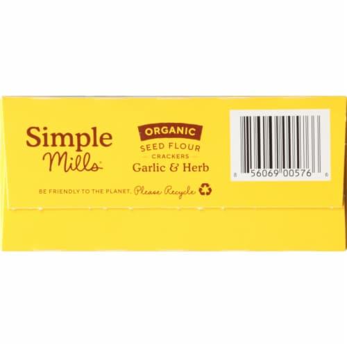 Simple Mills Organic Seed Flour Crackers - Garlic & Herb Perspective: bottom