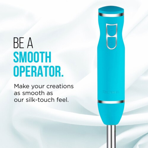 Chefman Immersion Dual Speed Control Ice Crushing Hand Mixer/Blender, Turquoise Perspective: bottom