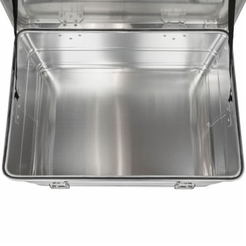 Swiss Link Custom Industrial Nesting Aluminum Storage Boxes, Silver (3 Pack) Perspective: bottom