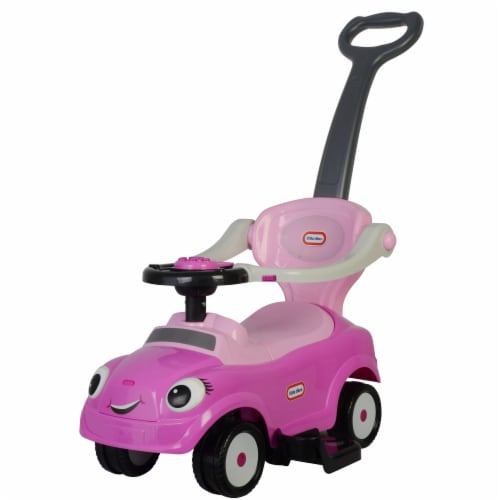 Best Ride On Cars Baby 3 in 1 Little Tikes Push Car Stroller Ride On Toy, Pink Perspective: bottom