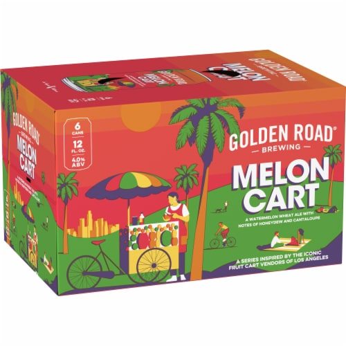 Golden Road Brewing Melon Cart Watermelon Wheat Ale Perspective: bottom
