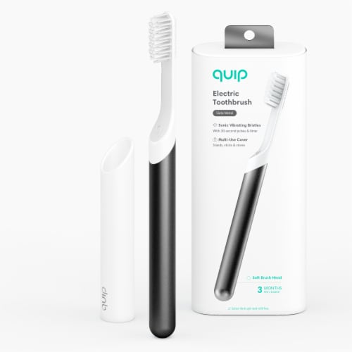 quip Metal Electric Toothbrush Starter Kit - Slate Perspective: bottom