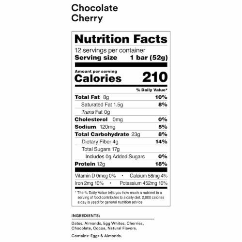 RXBAR Chocolate Cherry Protein Bar Perspective: bottom
