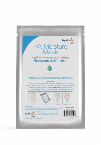 Ha Moisture Mask 4-Pack with Hyaluronic Acid Perspective: bottom