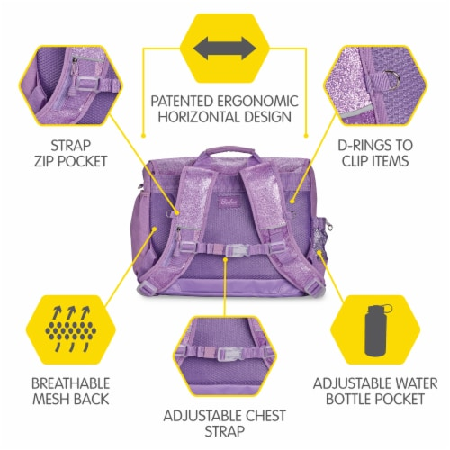 Bixbee Medium Sparkalicious Backpack - Purple Perspective: bottom