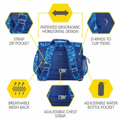 Bixbee Large Shark Camo Backpack - Blue Perspective: bottom
