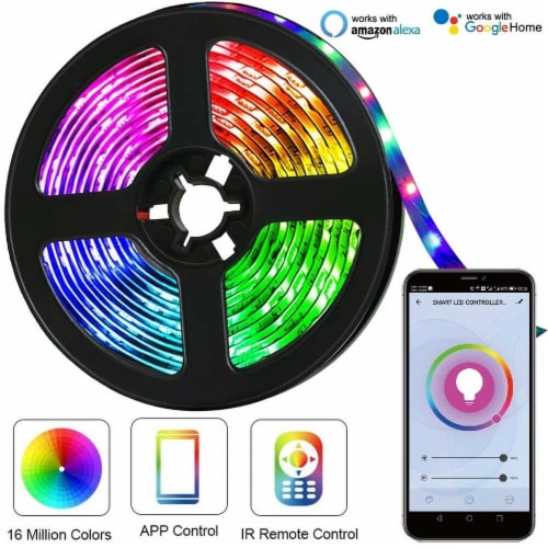 WBM International WiFi RGB LED Light Strip Kit Perspective: bottom
