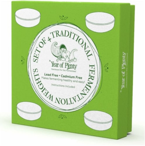 Year of Plenty Fermentation Weights   16-Pack   for Wide Mouth Mason Jars Perspective: bottom