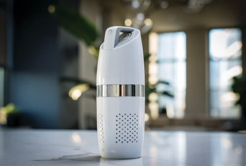 NuvoMed Portable Air Purifier with HEPA Filter Perspective: bottom