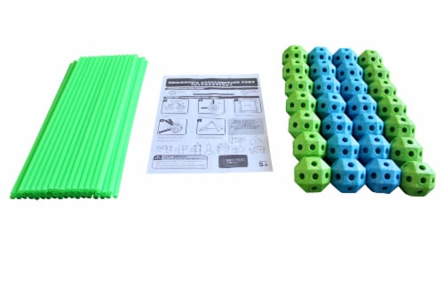 Funphix Glow in the Dark Fort Building Kit - Blue/Green Perspective: bottom