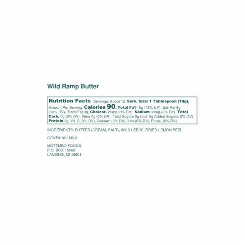 Combo Pack 2 Pack – One Wild Ramp Butter and One Wild Ramp & Chive Butter Perspective: bottom