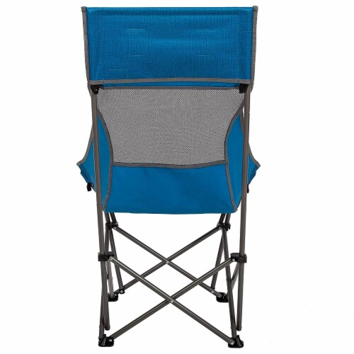 Mac Sports XP High Back Folding Portable Compact Lightweight Camping Chair, Blue Perspective: bottom