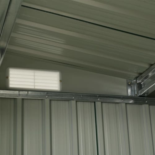"vidaXL Garden Shed with Sliding Doors Anthracite 129.7""x80.7""x70.1"" Steel Perspective: bottom"