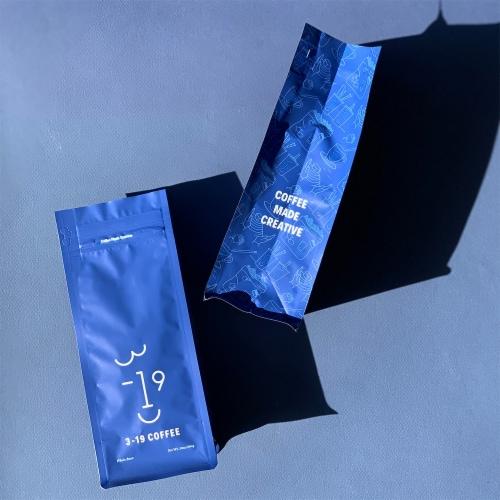 3-19 Coffee Dali Blend Dark Roast Whole Bean Coffee Perspective: bottom