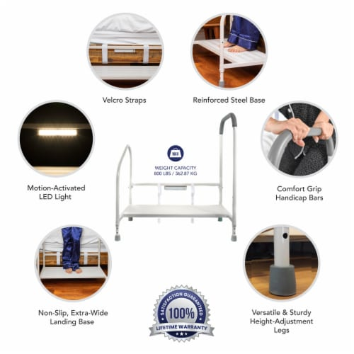 Step2bed XL Bed Rails for Elderly w/ Adjustable Height Bed Step Stool Perspective: bottom