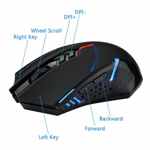 SANOXY 2.4G ET X-08 2000DPI Adjustable Wireless Mini USB Professional Gaming Mouse Mice Perspective: bottom