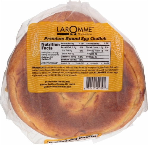 Laromme Round Egg Challah Perspective: bottom