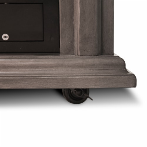 Pleasant Hearth Sheridan Mobile Infared Fireplace - Dark Weathered Gray Perspective: bottom