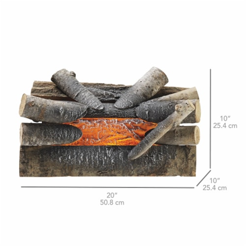 Pleasant Hearth Electric Crackling Log Perspective: bottom