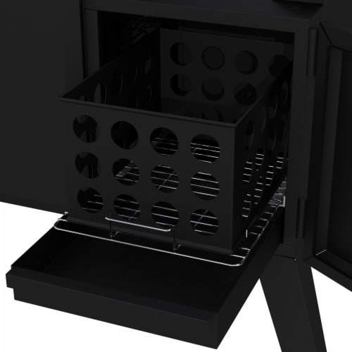 Dyna-Glo Vertical Offset Charcoal Smoker Perspective: bottom