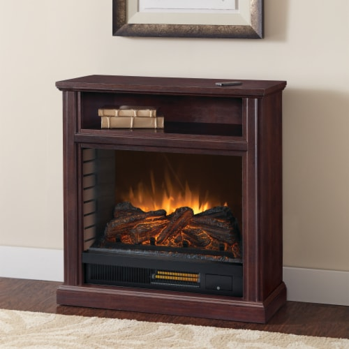 Pleasant Hearth Parkdale Mobile Infrared Media Electric Fireplace - Cherry Perspective: bottom