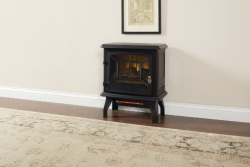 Pleasant Hearth Infrared Electric Stove with 2-Stage Heater Perspective: bottom